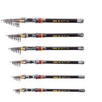 Wholesale Lighting Stick Fishing - YANJIANG Exclusive Quality Telescopic Sea Fishing Rod Pole Portable Carbon Fiber Fish Stick Fishing Tackle Free Shipping