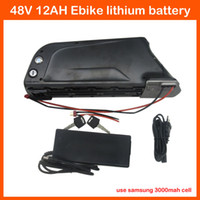 Wholesale Lithium Bike Bottle Battery - Hot sale 700W 48V Bottle Battery 48V 12AH Electric Bike lithium Battery Use samsung 30B cell with USB Port BMS 54.6V 2A Charger