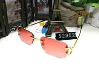 Wholesale Women Optical Frames Metal - Fashion Sun Glasses Eyeglass Rimless Frames Optical Sunglasses Metal Legs Frame Brand Designer Glasses With Case and Box