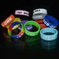 Wholesale Silicone Bracelets Customized - Personalized vape bands silicone bracelet,customized vape band silicone ring,cheap vape ring 22mm rubber silicone bands for e cig mods
