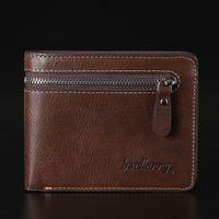 Wholesale Wholesale Purse Stylish - 5pcs lot Free shipping new stylish Mens wallet+genuine Leather Pockets Clutch Cente Bifold Purse ,100% guarantee W-B102