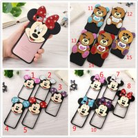 Wholesale Bling Bears - Diamond Bling Mickey Minnie Mouse Ear Bear Case 3D Cartoon Soft TPU Cover for iPhone 7 Plus 6 6s Plus 5s se