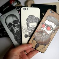 Wholesale Mix Order Phone Cases - For iPhone 7 plus 6 6S Plus Elegant 3D Huawei Relief Pattern Soft TPU Phone case full warp protection Man Style Mix order