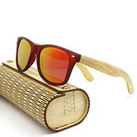 вина оптовых-Бренд дизайнер бамбук Polaroid солнцезащитные очки мужчины солнцезащитные очки бамбук дерево красное вино рамка солнцезащитные очки Мода женщины излучение с оригинальный чехол