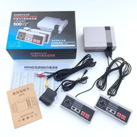 Wholesale Ps4 New Console - 5set New Retro Mini TV Handheld Game Console Video Game Console For Nes Games Built-in 500 Different Games PAL&NTSC For Christms Boy Gift