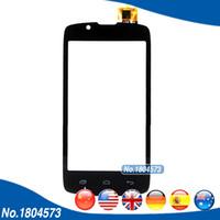 "iphone передняя панель оптовых-Wholesale- 4.0"" Touch Panel Digitizer For  IQ4490 IQ 4490 Front Glass Touchscreen Sensor Black White 1PC/Lot"
