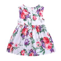 Wholesale Girls Red Striped Party Dress - New Kids Children Dresses Fashion 2017 Summer Clothes Kids Party Dress Girl Summer Dress Princess Girl Dresses