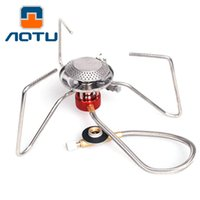 Wholesale AOTU AT102 Split W outdoor camping gas stoves and Equipped with fire starter gas burners support drop shipping