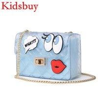 Wholesale Lovely Kids Shop - Kidsbuy Children's LovelY Jelly Shoulder Bags Kids Cartoon Design Purse Baby Girls Outdoor Wallets Teenagers Shopping Bags Child's bag KB078