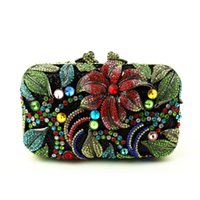 Wholesale Cheap Bags For Women Online - Wholesale- European Style Rhinestone Crystal Wedding Clutch for Women Handbags Flower Crystal Evening Clutches for Bridesmaids Cheap Online