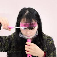 ciseaux de cheveux professionnels livraison gratuite achat en gros de-Rapide Livraison Gratuite Mode DIY Professionnel Frange Cheveux Coupe Clip avec Ciseaux Peigne Coiffure Typing Trim Outil