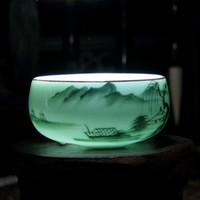 vasos de chá china venda por atacado-Chinês Longquan Porcelana Celadon China Xícaras De Chá De Peixe Dourado 60 ml China Chá Pot Celadon Crackle Xícaras De Chá