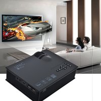 Wholesale Free Home Theater - Wholesale-Mini Projector 1080P Smart Miracast Airplay WIFI Theater 1200Lumens HDMI AV USB SD IR Portable Projetor DHL free shipping