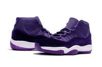 Wholesale Womens Neoprene Tops - 2017 Wholesale top quatily Womens Air Retro 11 Velvet Heiress Purple Basketball Shoes Lady 11s Sneakers Outdoor Sports Trainers