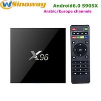 Wholesale One 2gb - Android IPTV Box X96 Amlogic S905X With One Year Arabic IPTV APK Code For Dutch Benelux Middle East Tunisia Algeria French LiveTV Channels