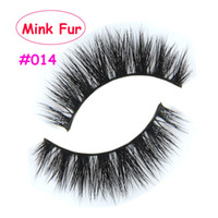 Wholesale Eyelash Extensions Human Hair - Real Mink Natural2017 new! 014 Thick False Fake Eyelashes Eye Lashes Makeup Extension Beauty Tools