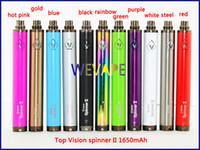 bateria azul vaporizador venda por atacado-Top Vision spinner II 1650 mAh Ego torção 3.3 4.8 V visão spinner 2 variável tensão bateria para Eletrônico cigarros ego atomizador