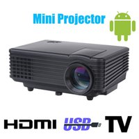 Wholesale Hdmi Pocket Proyector - Wholesale-Android 3d led mini projector accessories full hd tv home theater projetor video lcd proyector portable pico ircro pocket beamer