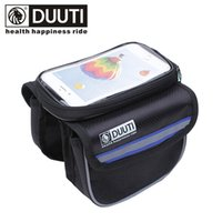 """Wholesale Top Tube Bag Phone - DUUTI 5.7"""" Waterproof Bike Bags Front Top Tube Frame Panniers Touch Screen Phone Pouch Double Zipper Reflective Bicycle Bags"""