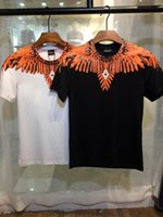 Wholesale Brand Designer Tshirts - MB10 Marcelo Burlon new style Tide brand Feather Wings Fashion Show men's Tshirts printing Designer Men T-shirts Stretch cotton 3D