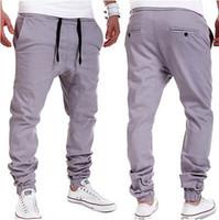 Wholesale Low Price Men S Pants - Wholesale-Autumn Retail Wholesale Factory Price! Mens Jogger Dance Sportwear Baggy Harem Pants Casual Slacks Trousers Sweatpants US S M L