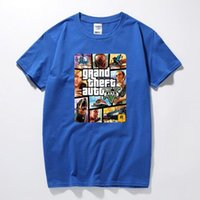 Wholesale Grand Theft Auto Gta - Grand Theft Auto Game GTA 5 Summer T Shirts Cool and GTA5 Men T Shirt Colorful Print T-shirt in Couples Tee Shirt Funny cloth