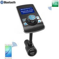 автомобиль сотового телефона bluetooth оптовых-Смарт Bluetooth FM-передатчик Модулятор 2.1A Автомобильное зарядное устройство BT Автомобильный комплект без помощи рук Поддержка TF-карты MP3-плеер FM-радио для мобильного телефона Tablet PC
