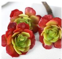 Wholesale Lotus Flowers Indoors - Fillet snow lotus indoor plant wall export fake flower simulation flower micro-landscape multi-meat plant