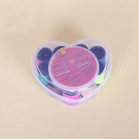 Wholesale Wedding Accessory Kits - Portable Mini Travel Sewing Kits Heart Plastic Box Needle Threads Box Home Sewing Accessories Wedding Gifts And Favors ZA3112