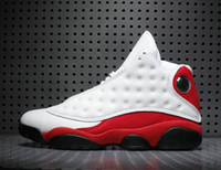 zapatillas de baloncesto rápidas al por mayor-2018 Chicago 13s Negro Blanco True Red Wholesale Chicago 13 Zapatos de baloncesto con envío rápido de la caja
