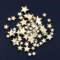 ingrosso artigianato decorativo di natale-1000pcs misti a forma di stella bottoni in legno fai da te scrapbook craft abbigliamento decor button regalo di natale TY2157