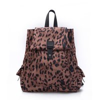Wholesale Leopard Print Pu - Wholesale- Fashion Women Backpack PU Leather Leopard Printing Lovely Travel Bags Unique Girls Backpack Ladies Bag Packs Female Shool Bag