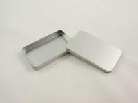 Wholesale Tin Box Printed - Free Shipping + Wholesale silver rectangle tin box plain metal box tin gift box without printing wen4461
