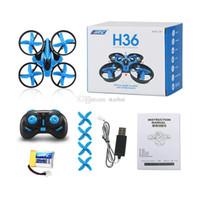 vs bir toptan satış-JJRC H36 Mini Drone Ile 2.4 GHz 6 Eksen RC Mikro Quadcopters Başsız Modu Tek Anahtar Dönüş Helikopter Vs H8 Dron Kid Için En Iyi Oyuncaklar b1257-1