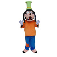 Wholesale Dog Suits Adult - New Adult Goofy Dog Mascot Costume Fancy Party Dress Suit Carnival Costume Free Shipping