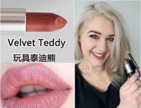 Wholesale Teddies Sexy Hot - 2017 hot New Top quality MATTE LIPSTICK Velvet Teddy HONEY LOVE Candy yum yum KINDA SEXY PLEASE ME HAUTECORE color lipstick 3g Free shipping