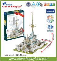 Wholesale Lineage Toys - Best selling toy 3d puzzle game Lineage 2 Aden Castle paper model 224PCS