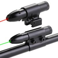Wholesale Hunting Laser Riflescope - Hunting Aiming Rifle Tactical Red   Green Laser Dot Scope Sight Riflescope Remote Tail Switch Rail Ring Mount Free Shipping