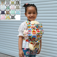 Wholesale Flower Toy For Babies - U PICK New Baby Doll Carrier Mei Tai Sling Toy For Kids Children Toddler Front Back,Owl,Dot,Flower,Kaleidoscope,Mini Carrier 15 Choices