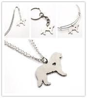 Wholesale Charm Mountains - Bernese Mountain dog necklace charm heart cute dog pet i love dogs charm pendant necklace bangle keyring bookmark