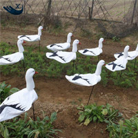 Wholesale decoy hunting - Wholesale- New Arrival Outdoor Hunting Plastic Decoys Windsock Snow Goose Decoy Windsock Plastic Goose From Xilei