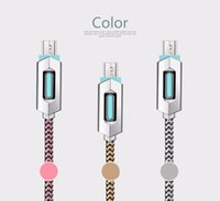 Wholesale Micro Usb Charger Hdmi - Visible LED Light Micro USB Cable 1m 3ft Charger Sync Data Extra Charging Lighting Line Adapter High Speed For Samsung