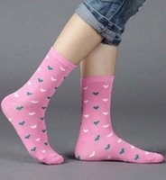 Wholesale Socks Pieces - Wholesale-Candy colors 20 pieces=10pairs new design women's socks with high quality Winter Rhombus Dot Solid design media socking