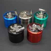 4pc HandCrank Grinder 55mm 4 pièces en alliage de zinc à main Crank Dry Herb Metal Grinders For Herbal Vaporisateur DIY Tool Kit DHL Free