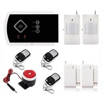 Wholesale Gsm Home Fire Alarm Systems - Russian English Voice Wireless GSM SMS Alarm System Security Home Alarm 850 900 1800 1900MHz with IOS Andriod APP control