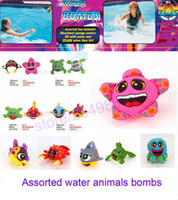 Wholesale play balls kids - 2017 Assorted water sea animals bombs water ball funny toys kid summer play game