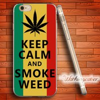 Wholesale Keep Calm Iphone 5c Case - Capa Keep Calm and Smoke Soft Clear TPU Case for iPhone 7 6 6S Plus 5S SE 5 5C 4S 4 Case Silicone Cover.