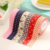 Wholesale PC Korean Sweet DIY Fabric Stationery Washi Decorative Scrapbook Scotch Masking Tape Cintas Stickers Papeleria fita