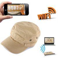 Wholesale Mini Camcoder - 8GB 16GB 32GB HD 720P IP Camera Wearable Mini WIFI Spy Hat Camera P2P Covert Hat Cap Camcorder Portable DV Camcoder Wifi Nanny Camera