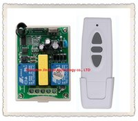 Wholesale Remote Motor Switch - Wholesale- Simple practical AC 220V Wireless Remote Control Switch 1pc receiver + 1pc transmitter Tubular motor forward and reverse